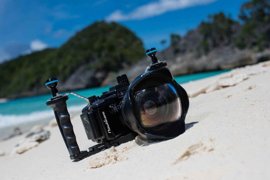 The NARX100MKIV with wet-mate WWL1 wide angle lens